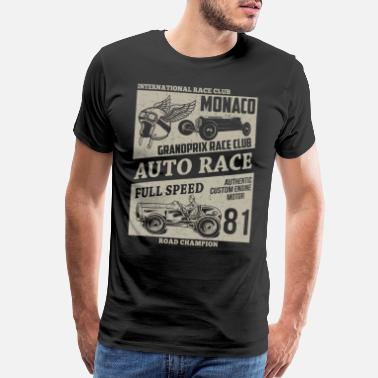 Auto Racing Auto Race Racing Motorace - Men's Premium T-Shirt