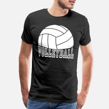 Passed Volleyball pass, set, hit and block. - Men's Premium T-Shirt