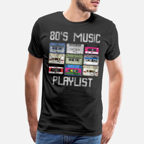 Cassette 80's Music Playlist Grunge Men's Premium T-Shirt