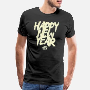Happy Holiday Happy New Year 2019 - Men's Premium T-Shirt