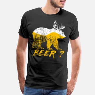 Deer Bear Bear reindeer alcohol humor - Men's Premium T-Shirt