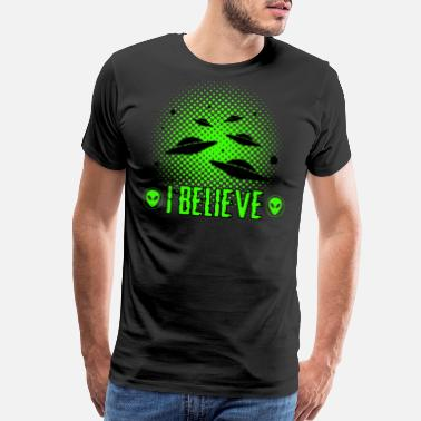 End Of The World Alien Invasion - UFO - Men's Premium T-Shirt