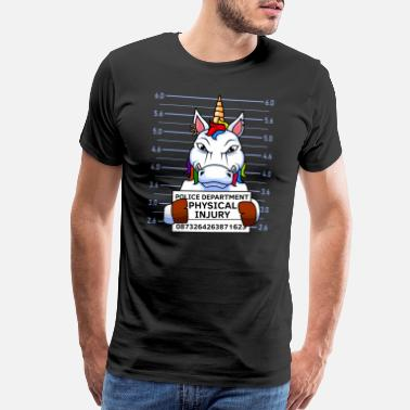 Prison Evil Unicorn Arrest Photo Arrest photo - Men's Premium T-Shirt