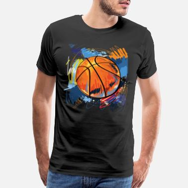 Sports Basketball graffiti art - Men's Premium T-Shirt