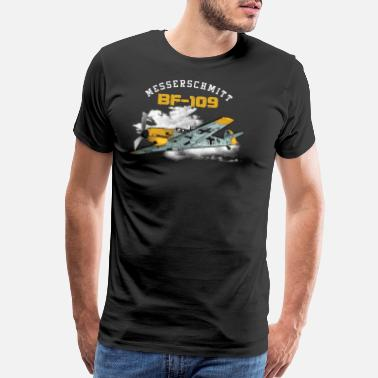 Ww2 BF-109 German WW2 Fighter Gift Luftwaffe Gift - Men's Premium T-Shirt