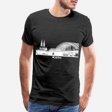 City Tv City of Cologne skyline white gift idea - Men's Premium T-Shirt