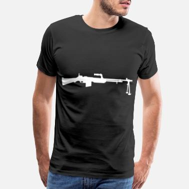 War Is Bad Browning Automatic Rifle B.A.R. white - Men's Premium T-Shirt