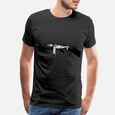 Rapid Fire Weapon Thompson Tommy Gun submachine gun - Men's Premium T-Shirt