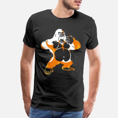 Knuckle Predominantly Gorilla Apes Gift Idea T-Shirt - Men's Premium T-Shirt