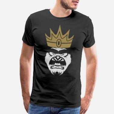 204ea3eb Ape King Crowned Gorilla King Present Gift Idea T-Shirt - Men's Premium T-