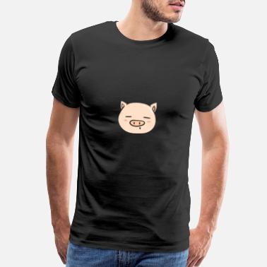 Wild Boar Cute Pig Face Animal Pet Gift Idea - Men's Premium T-Shirt