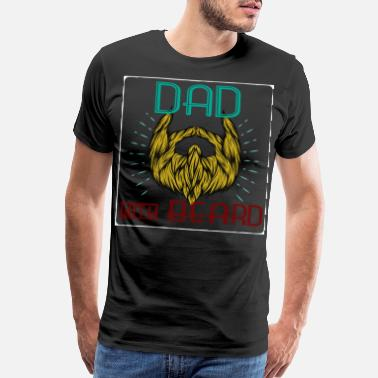 Sunglasses Hipster Ded with Beard - Men's Premium T-Shirt