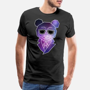 Swag Bear Geometric Hipster Panda Bear | Low Poly Galaxy - Men's Premium T-Shirt