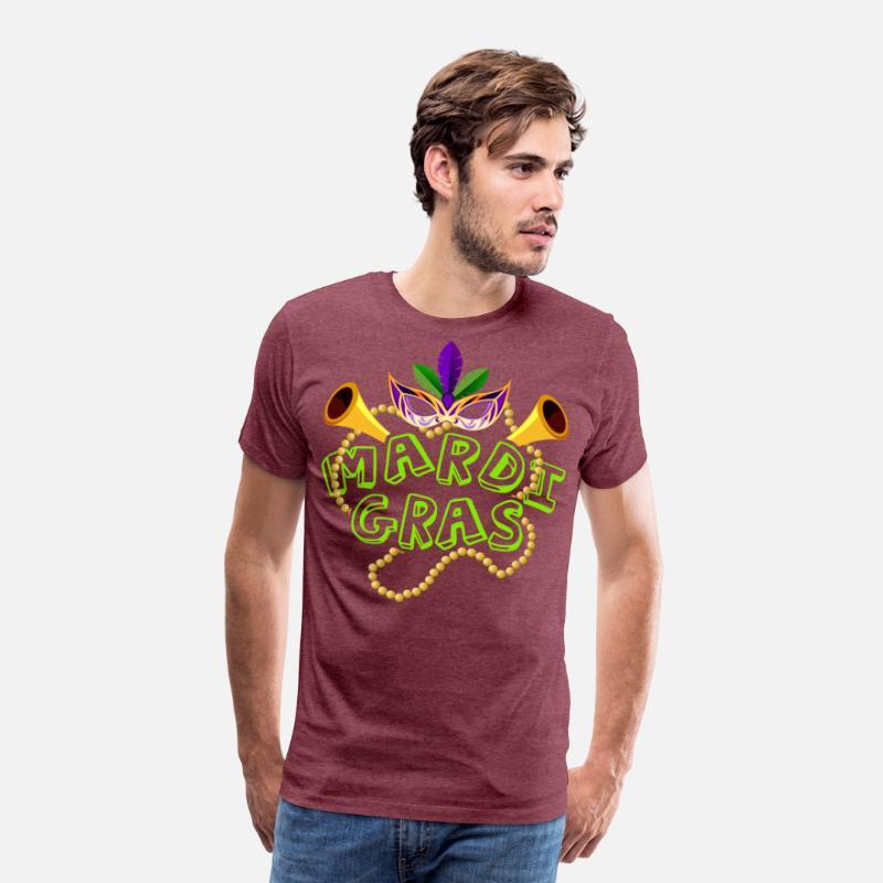05a54252a59d Mardi Gras Beads T Shirt - Mardi Gras Fat Tuesday Men's Premium T-Shirt    Spreadshirt