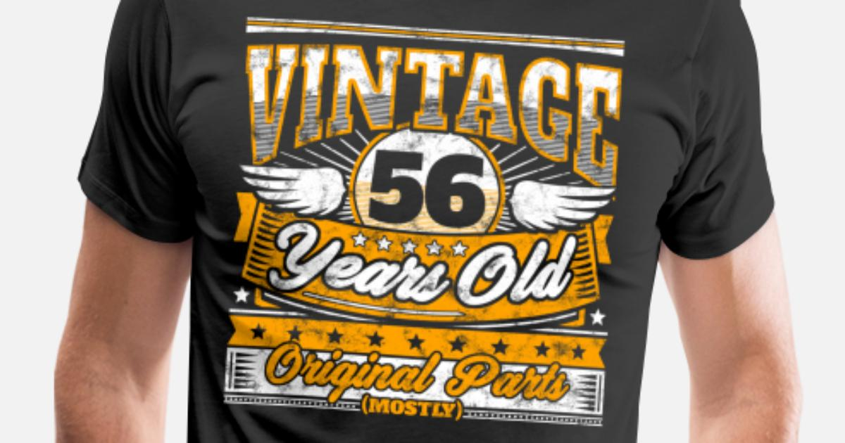 Funny 56th Birthday Shirt Vintage 56 Years Old By EasyTeezy