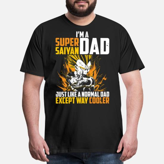 8aeeb48af Ball T-Shirts - dragon ball super saiyan dad majin vegeta t shirt - Men's