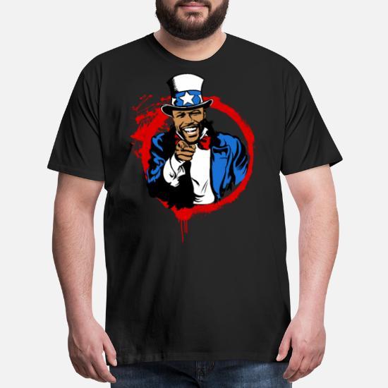 1df508636 Floyd Mayweather Uncle Sam IRS Tax (Red Circle) Men's Premium T ...