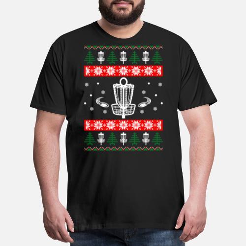 2eeb0f482c3 Disc Golf Ugly Christmas Sweater Xmas Men s Premium T-Shirt ...