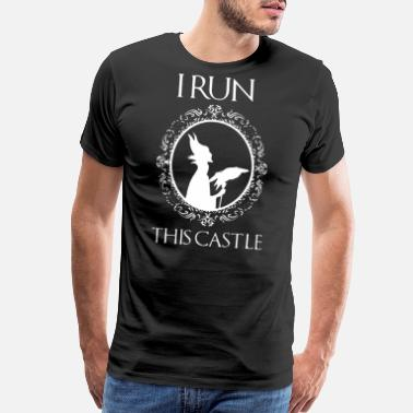 Vegan Sports Wear i run this castle - Men's Premium T-Shirt