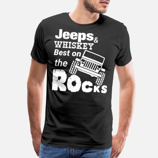 965fd1ee14 Jeeps and whiskey best on the rocks Men's Premium T-Shirt | Spreadshirt