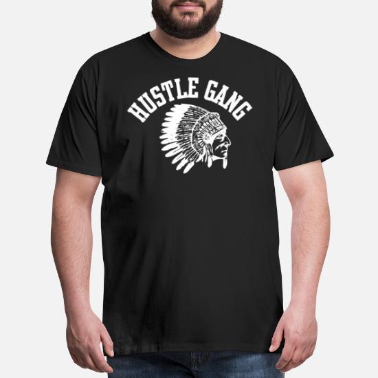 dda165b2 Hustle Gang Black Size Hustle T Shirts Men's Premium T-Shirt ...