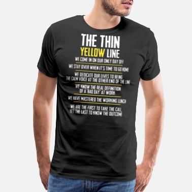 Thin Blue Line Canada the thin yellow line hipster t shirts - Men's Premium T-Shirt