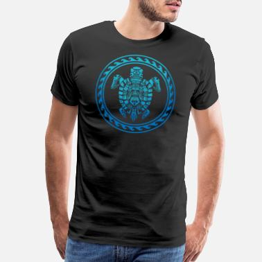 Polynesian Hawaiian Tribal Sea Turtle - Polynesian Symbol Tee - Men's Premium T-Shirt