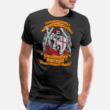 35c879d00 Crusader Knight templar I am a child of God shirt Halloween - Men's Premium  T-