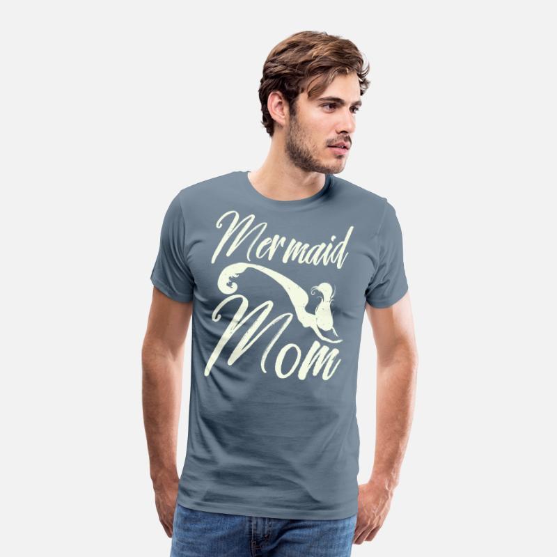 837dd250 Womens Mermaid Mom Shirt Mermaid Mama Tee Men's Premium T-Shirt    Spreadshirt