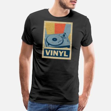 Turn Table Vinyl Disc Jockey Classic Music Retro Vintage 70's - Men's Premium T-Shirt