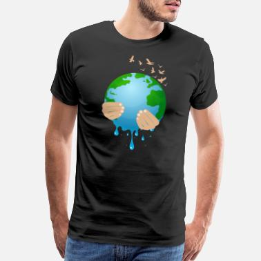 Stop Caring Stop Global Warming Melting Mother Earth Climate - Men's Premium T-Shirt