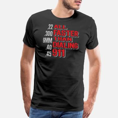 Right To Arm Bears 2nd Amendment Gun Owner Funny 911 Bullet - Men's Premium T-Shirt