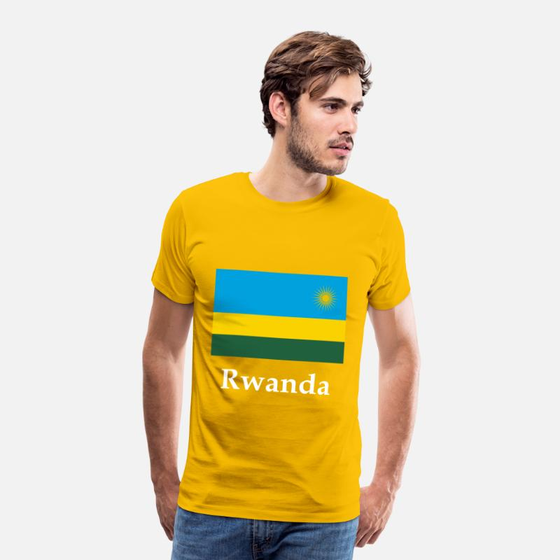 Rwanda Kid/'s T-Shirt Country Flag Map Top Children Boys Girls Unisex