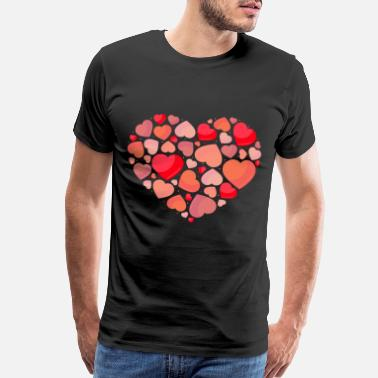 Love Heart Hearts in heart - Men's Premium T-Shirt