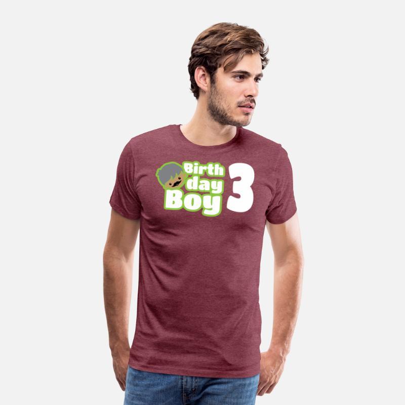 Mens Premium T ShirtBirthday Boy Three