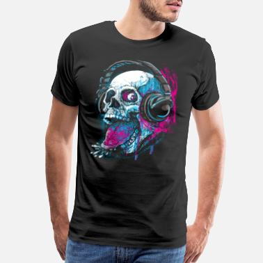 Skull Skull Givin' Raspberry Dk - Men's Premium T-Shirt