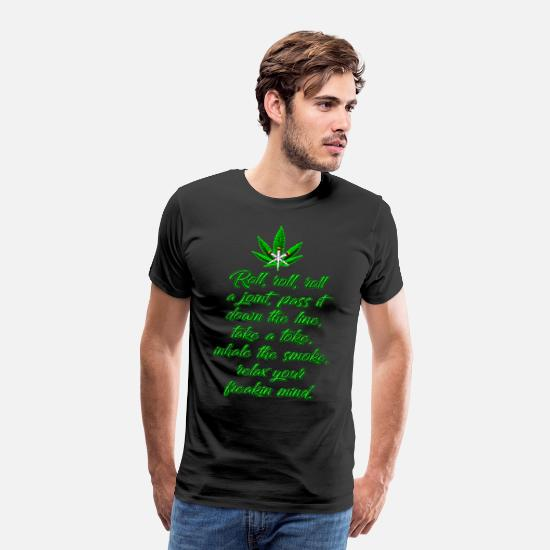 Weed T-Shirts - Roll A Joint - Men's Premium T-Shirt black