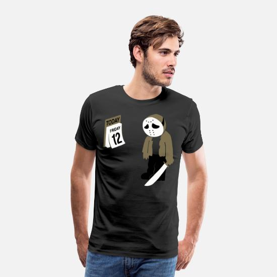 Funny T-Shirts - before friday the 13th - Men's Premium T-Shirt black