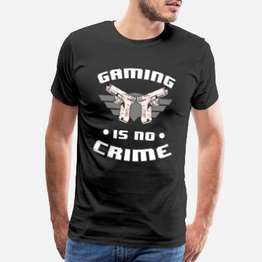 Partners Gaming is no Crime Crosshair Nerd Geek Gamer - Men's Premium T-Shirt