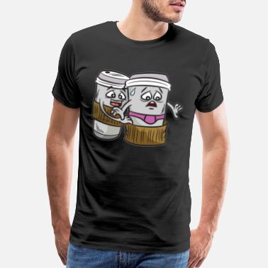Naughty NAUGHTY COFFEE - Men's Premium T-Shirt