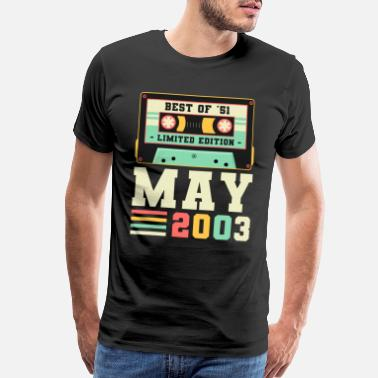 Final 18th Birthday May Gift Vintage 2003 18 Years - Men's Premium T-Shirt