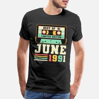 Only 30th Birthday June Gift Vintage 1991 30 Years - Men's Premium T-Shirt