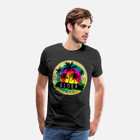 Summer T-Shirts - Aloha - Men's Premium T-Shirt black