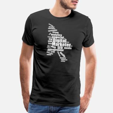 Digital Design Cool Sayings Digital Marketer Wordcloud - Men's Premium T-Shirt