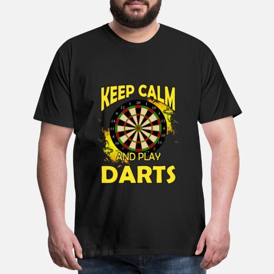 Keep Calm and Play Darts Men Baseball Top