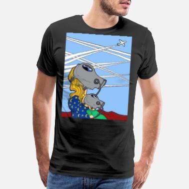 Chemtrails Conspiracy Theory Dave The Cat Chemtrails - Men's Premium T-Shirt