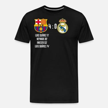 ca890932a FC Barcelona 4-0 Real Madrid Men s Premium T-Shirt