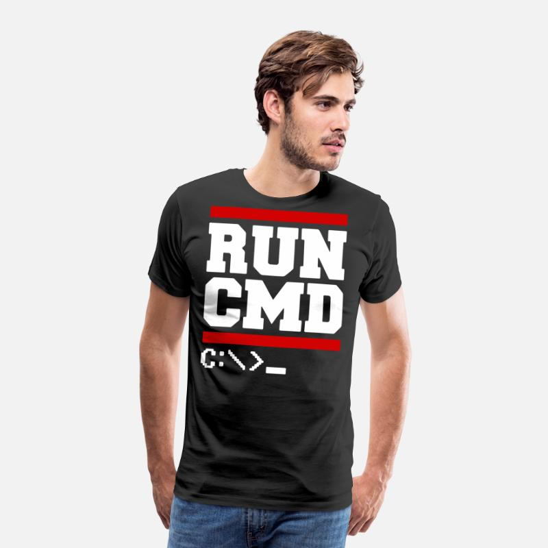 Programmer Gifts T-Shirts - RUN CMD t-shirts - Men's Premium T-Shirt black
