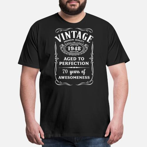 a4b78e84c5e9 Men s Premium T-ShirtVintage Limited 1948 Edition 70th Birthday Gift