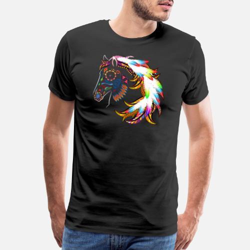 tete-de-cheval-indien-visage-de-cheval-tribal-t-shirt-premium-pour-hommes.jpg bb6d3a2fd3